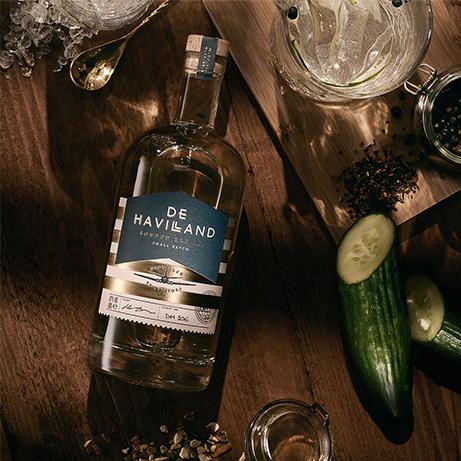 De Havilland Gin Bottle Marketing Photo