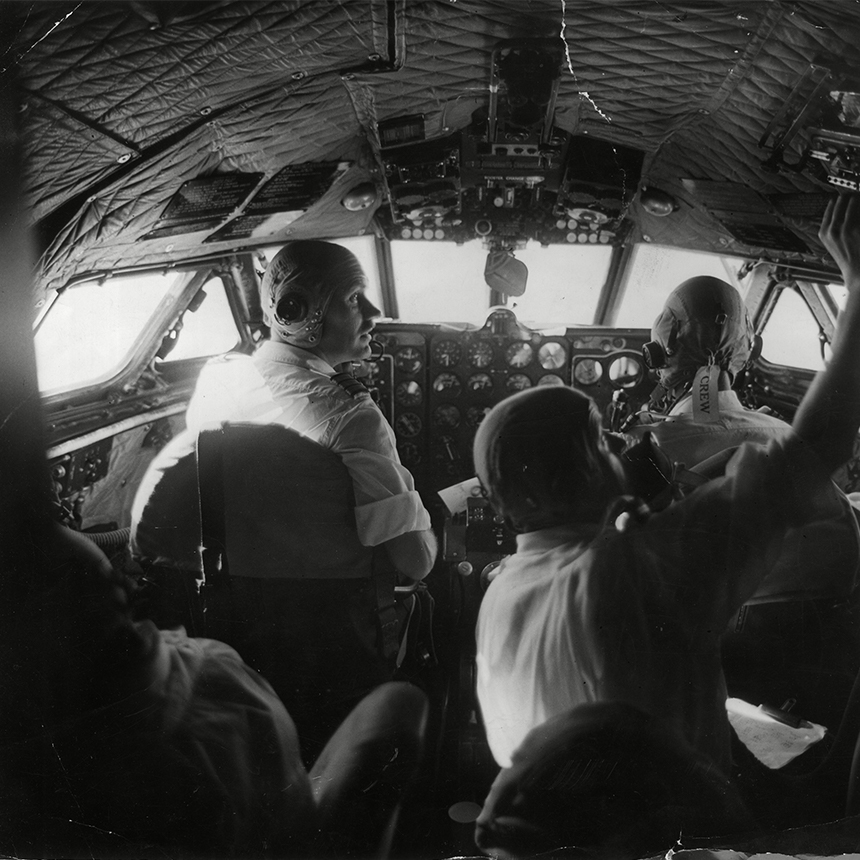 De Havilland Airline Pilots in Cabin